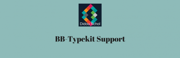 BB-Typekit Support