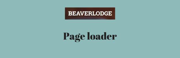 Beaverlodge Page loader