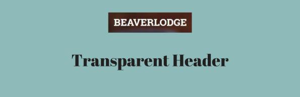Beaverlodge Transparent header