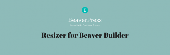 Resizer for Beaver Builder