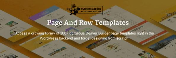 UABB Row page templates